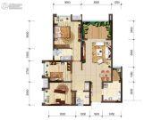 首创光和城3室2厅1卫84平方米户型图