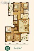 辰能溪树庭院(南区)5室2厅3卫0平方米户型图