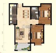 顺鑫美域2室2厅1卫94平方米户型图