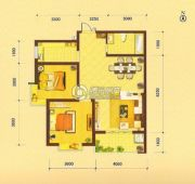 祥瑞・四季印象2室2厅1卫84平方米户型图