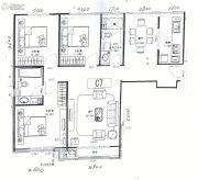 巨华世纪城3室2厅2卫126平方米户型图