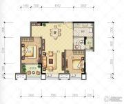 财信沙滨城市2室2厅2卫66平方米户型图