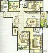 绿都万和城3室2厅2卫134平方米户型图