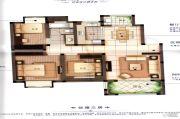 橡树城3室2厅1卫109平方米户型图