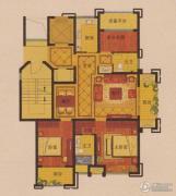 公元世家3室2厅2卫111平方米户型图