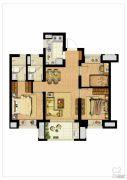 禹洲雍贤府3室2厅2卫0平方米户型图