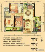 华强城3室2厅2卫127平方米户型图