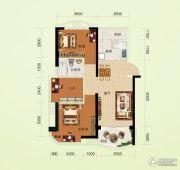 碧桂园澜江华府3室2厅1卫83平方米户型图