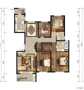 仁恒江湾城4室2厅2卫182平方米户型图