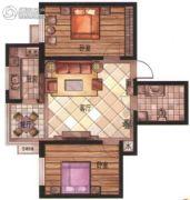 华富・瑞士名居2室2厅1卫84平方米户型图