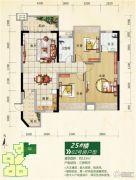 正元七里香溪3室2厅0卫123平方米户型图