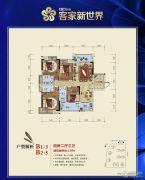 客家新世界4室2厅3卫138平方米户型图
