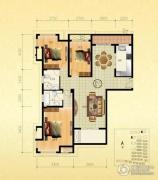 金通桂园 高层3室2厅2卫125平方米户型图