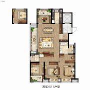 雅居乐万科中央公园4室2厅2卫152平方米户型图