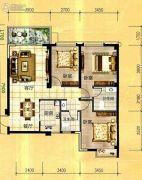 天立国际3室2厅1卫110平方米户型图
