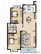 福宇凤凰华庭2室2厅1卫106平方米户型图