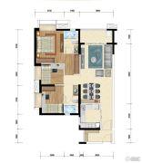 时代水岸3室2厅2卫95平方米户型图
