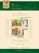 华晨・栗雨香堤2室2厅2卫126平方米户型图