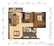 领美・大学家园2室2厅1卫78平方米户型图