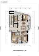 保亿绿城奥邸国际4室2厅3卫0平方米户型图