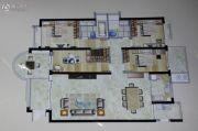 观海居4室2厅3卫184平方米户型图