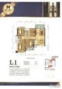 魅力首座4室2厅2卫0平方米户型图