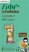 重庆巴南万达广场1室1厅1卫30平方米户型图
