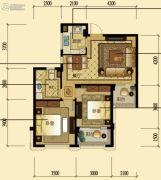 中顺上尚府2室2厅1卫76平方米户型图