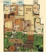 中海国际社区3室2厅2卫140平方米户型图