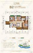 舜德湘江3室2厅2卫128平方米户型图
