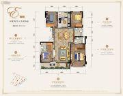万科银海泊岸4室2厅3卫166平方米户型图