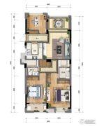 新天地・金色时光3室2厅2卫108平方米户型图