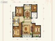 绿城百合花园紫薇园二期4室2厅2卫145平方米户型图