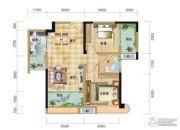 五矿万境水岸2室2厅1卫88平方米户型图