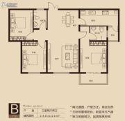 一品公馆3室2厅2卫122--133平方米户型图