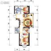中央学府2室2厅1卫90平方米户型图