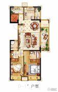 金科世界城3室2厅1卫121平方米户型图