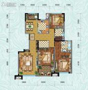 中铁逸都3室2厅2卫117平方米户型图