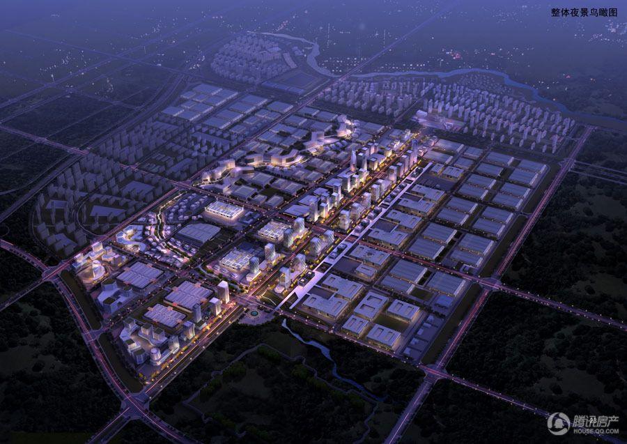 华商汇整体夜景鸟瞰图