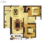 凤祥铭居2室2厅1卫91平方米户型图