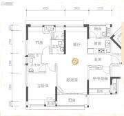 保利大都会3室2厅2卫90平方米户型图