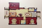 润和・滟澜湾 多层3室2厅2卫131平方米户型图