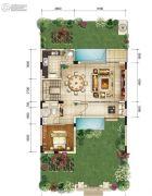 金科御临河1室2厅1卫0平方米户型图
