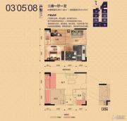 天健世纪花园2室1厅1卫37--40平方米户型图