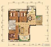东湖雅居3室2厅2卫111平方米户型图