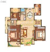 月桥花院3室2厅2卫117平方米户型图