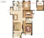 美的城三街区3室2厅2卫115平方米户型图
