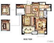 新城春天里2室2厅1卫75平方米户型图