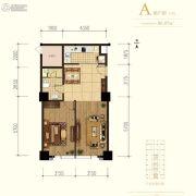 中冶・德贤MINI公馆1室1厅1卫86平方米户型图