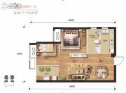 汉口派2室2厅1卫75平方米户型图